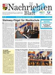Steinway-Flügel für Musikschule - Woche für Woche