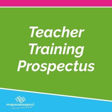 Progressive Sports Teacher Training Prospectus