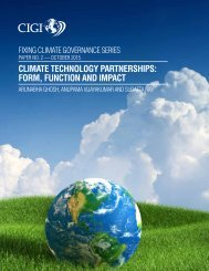 CLIMATE TECHNOLOGY PARTNERSHIPS FORM FUNCTION AND IMPACT