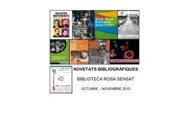 Les novetats de la biblioteca de Rosa Sensat de novembre 2015