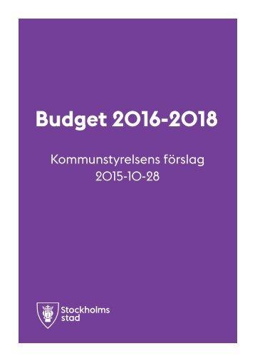 Budget 2016-2018