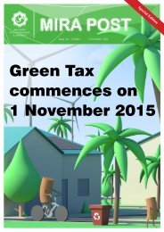 Green Tax commences on 1 November 2015