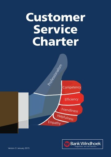 customer care charter template - customer service charter