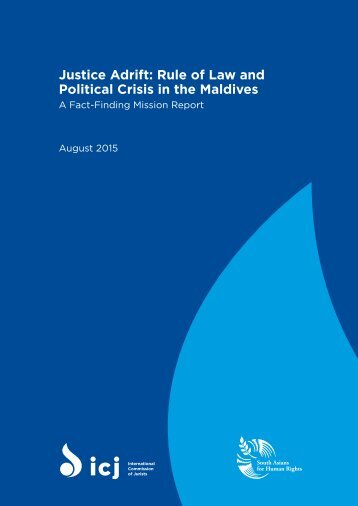 Justice Adrift Rule of Law and Political Crisis in the Maldives