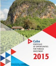 Portfolio of Opportunities for Foreign Investment 2015