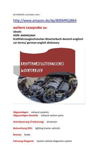 Woerterbuch begriffe fuer kfz mechaniker deutsch englisch for Dictionary englisch deutsch