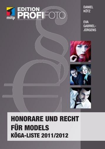 honorare und recht für models köga-liste 2011/2012 - Mitp