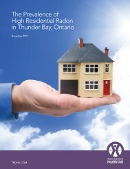 The Prevalence of High Residential Radon in Thunder Bay Ontario