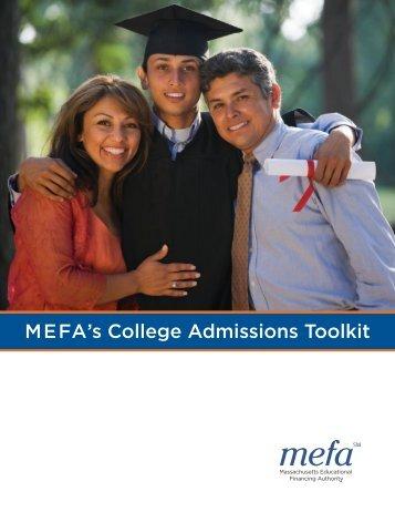 MEFA's College Admissions Toolkit