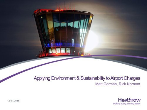 Applying Environment & Sustainability to Airport Charges