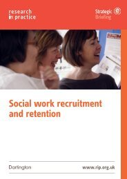 Social work recruitment and retention