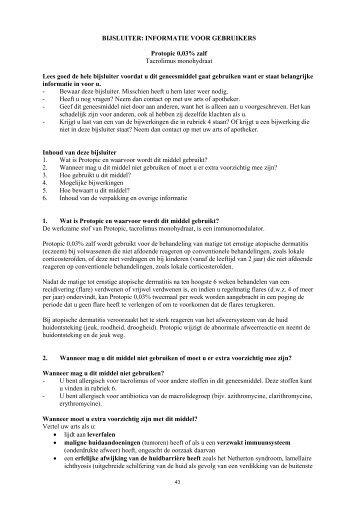 Bijsluiter Protopic® 0,03 - Astellas.nl