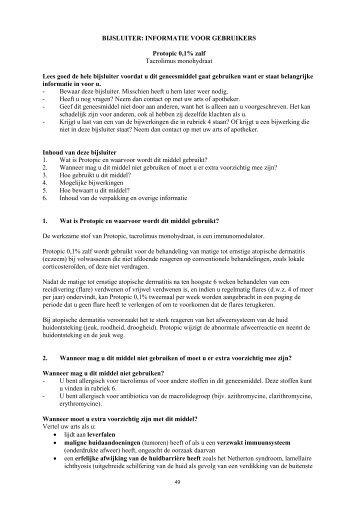 Bijsluiter Protopic® 0,1 - Astellas.nl