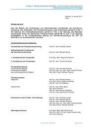 Wahlprotokoll - Kassenärztliche Vereinigung Thüringen