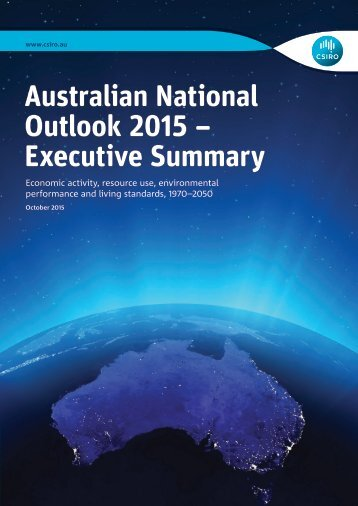 Australian National Outlook 2015 – Executive Summary