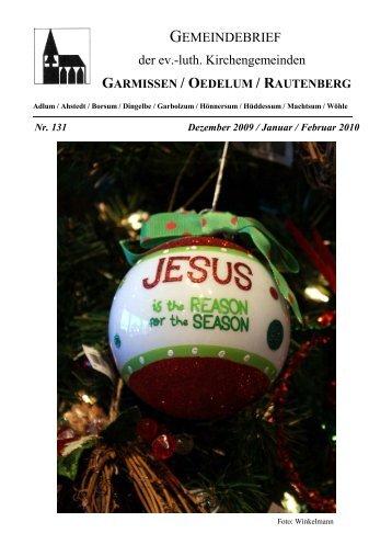 Gemeindebrief Dezember 2009-Februar 2010 - Kirchenregion ...