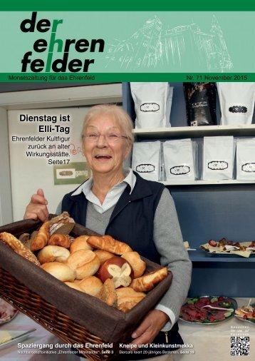 Der Ehrenfelder 71 - November 2015