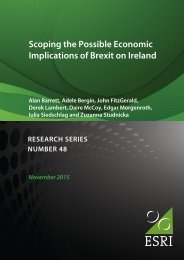 Scoping the Possible Economic Implications of Brexit on Ireland