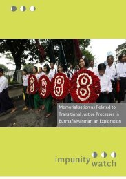 Transitional Justice Processes in Burma/Myanmar an Exploration