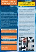 Polymer Testing & Analysis 2016 - Page 2