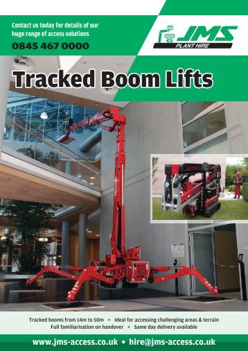 Tracked Boom Lifts