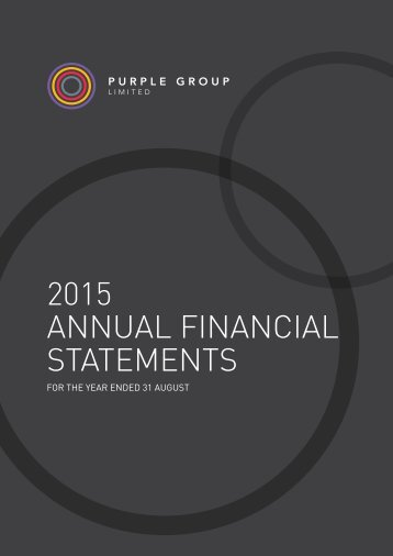 2015 ANNUAL financial statements