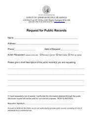 Request for Public Records