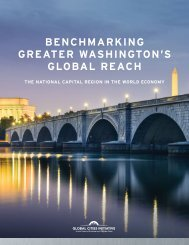 BENCHMARKING GREATER WASHINGTON'S GLOBAL REACH