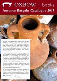 Autumn Bargain Catalogue 2015