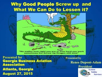 Why Good People Screw up and What We Can Do to Lessen it?