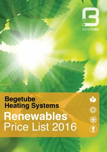 Renewables Price List 2016
