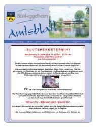 Amtsblatt vom 04.03.2010 (KW 9) - Gemeinde Böhl-Iggelheim