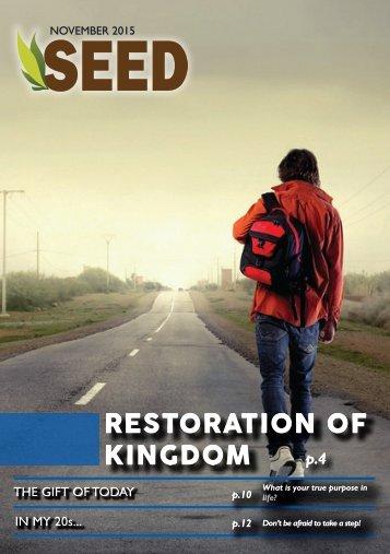 RESTORATION OF KINGDOM