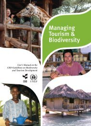 Managing Tourism & Biodiversity - Convention on Biological Diversity