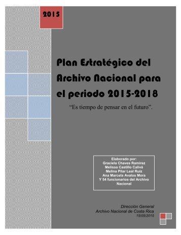 Plan Estratégico del Archivo Nacional para el periodo 2015-2018