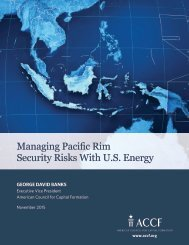 Managing Pacific Rim Security Risks With U.S Energy
