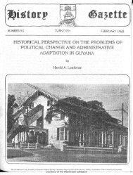 Historical Perspectives On The Problems Of Political Change and Administrative Adaptations In Guyana , By Harold Lutchman
