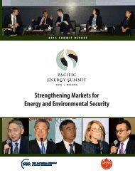 Strengthening Markets for Energy and Environmental Security