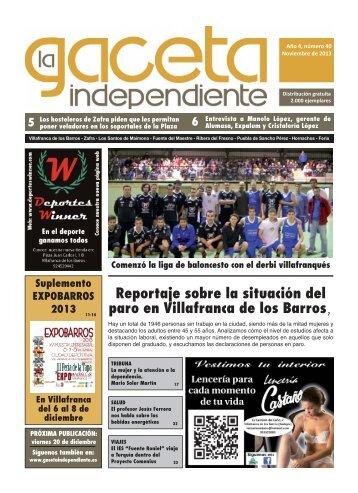Reportaje sobre la situación del paro en Villafranca de los Barros