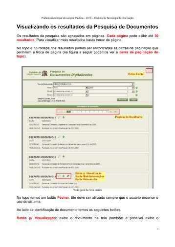 Visualizando os resultados da Pesquisa de Documentos