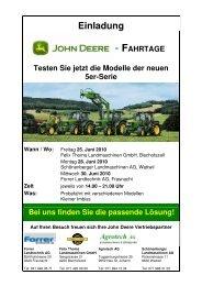 25. Juni 2010 - Forrer Landtechnik AG