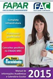 Manual de Informações Acadêmicas e Calendário Escolar 2014 - FAC