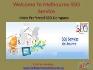 SEO Consultant Melbourne | SEO Company Melbourne