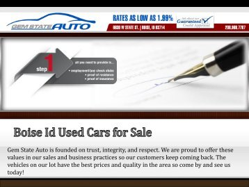 Boise Id Used Cars for Sale