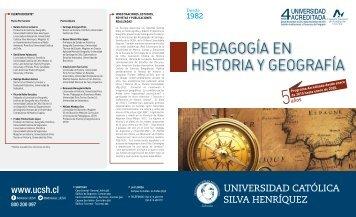 PEDAGOGÍA EN HISTORIA Y GEOGRAFÍA