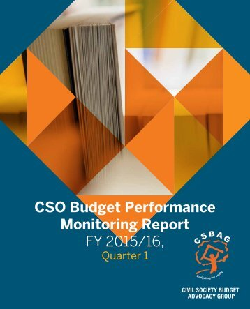 CSO Budget Performance Monitoring Report FY 2015/16