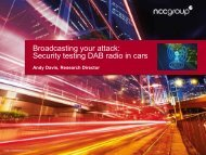 Broadcasting your attack Security testing DAB radio in cars