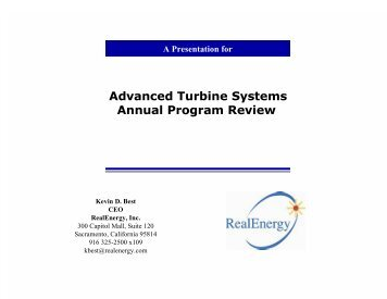 Advanced Turbine Systems Annual Program Review