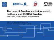 The case of Sweden market research methods and IGSHPA Sweden