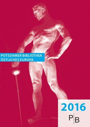 Verlagsverzeichnis des Deutschen Kulturforums östliches Europa 2016